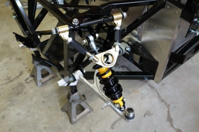 Front suspension underway.