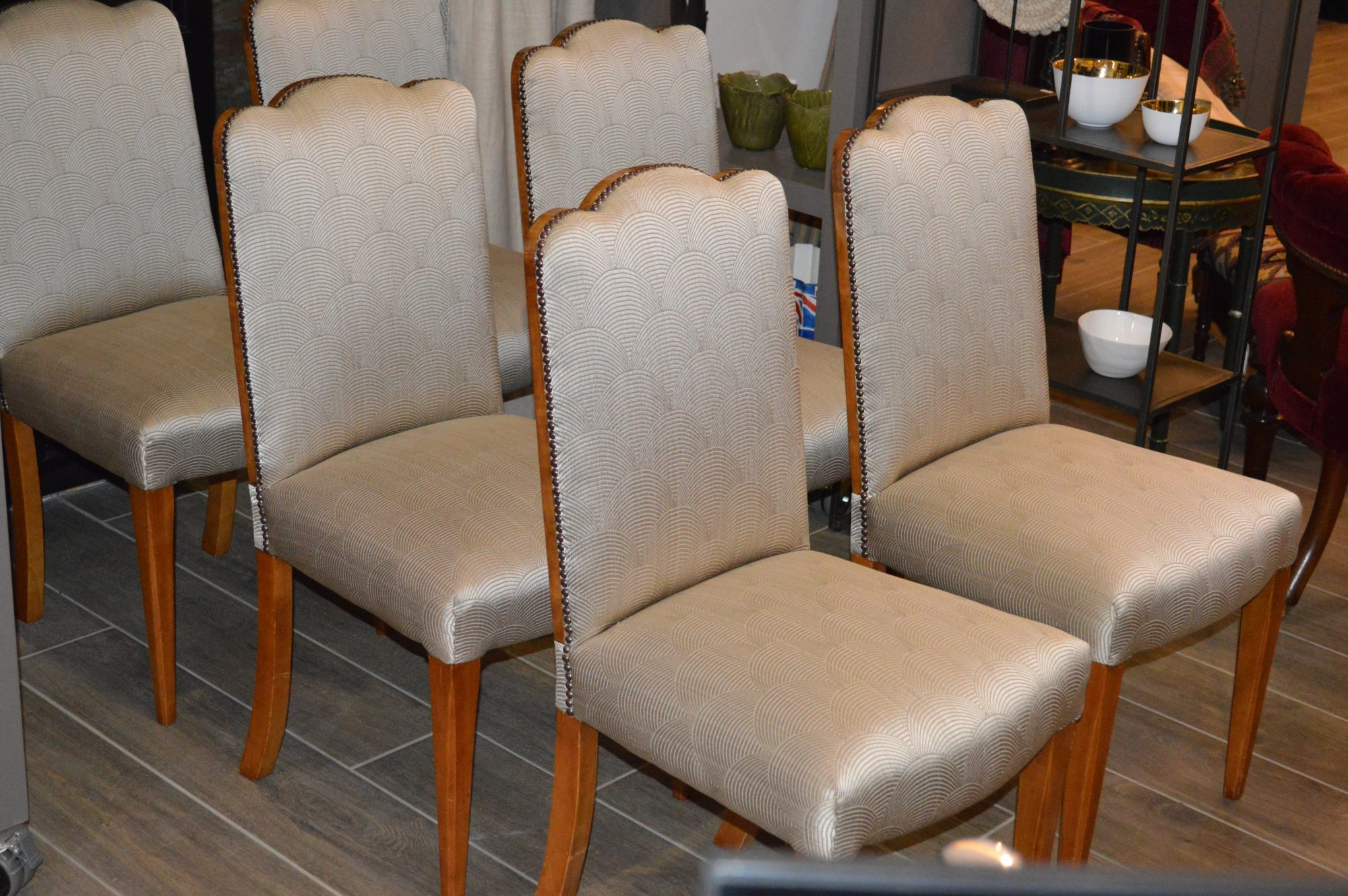 Art Deco Dining Chairs Set Of 6 Art Deco Burr Walnut Dining Chairs Circa 1930