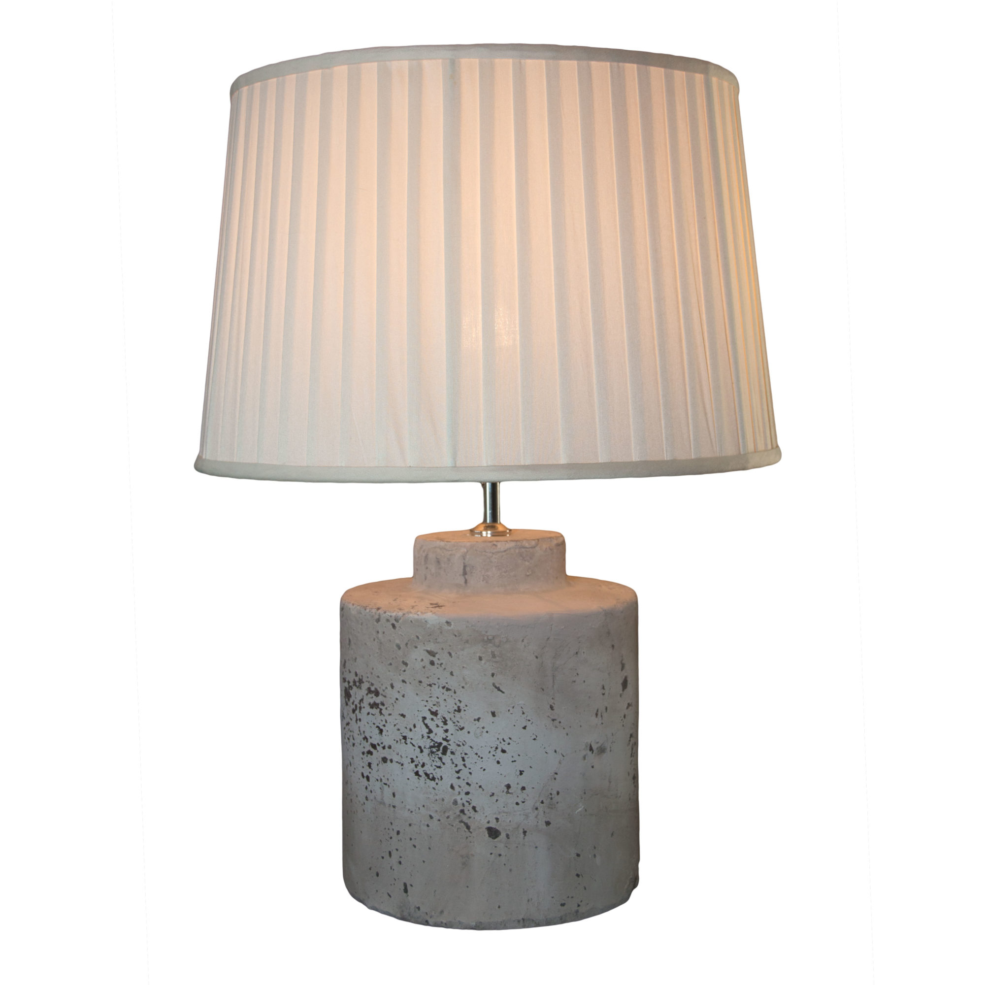 Stone Effect Drum Shaped Lamp Base