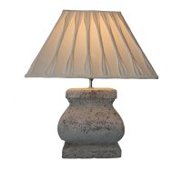 Stone Effect Large Square Lamp Base | Baker Rhodes