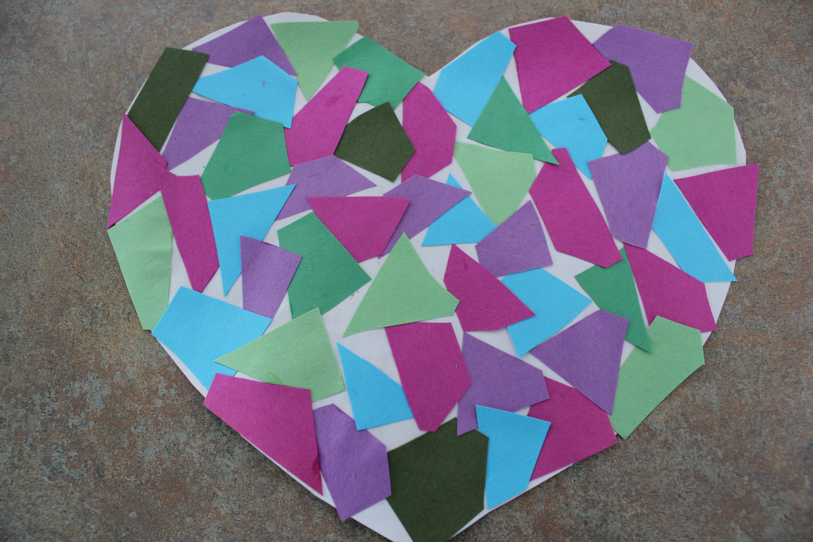Heart Mosaic Craft