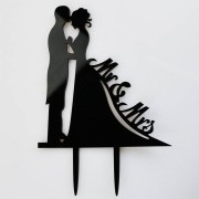 & bride groom black acrylic