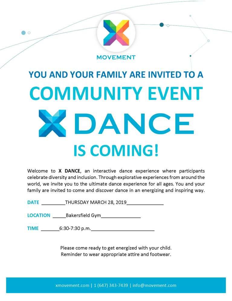 X Dance Community Event Invite