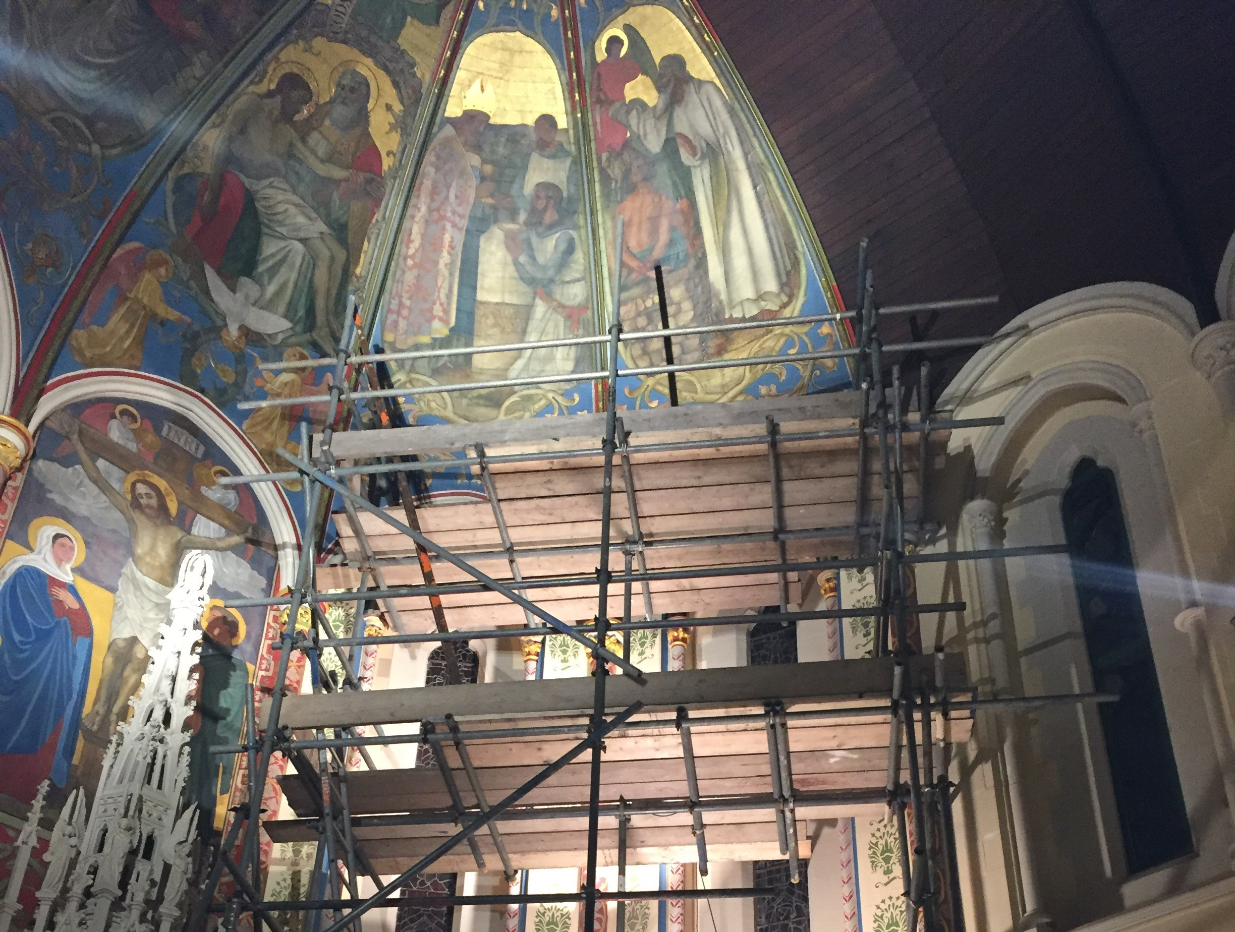 St Swithun Church – Sanctuary – Southsea, Hampshire specialist heritage restoration work by baker southern ltd decorators