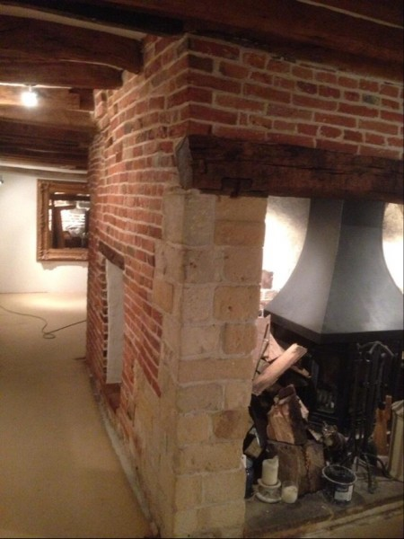 16th century fireplace stripped, cleaned and sealed in West Meon, Hampshire