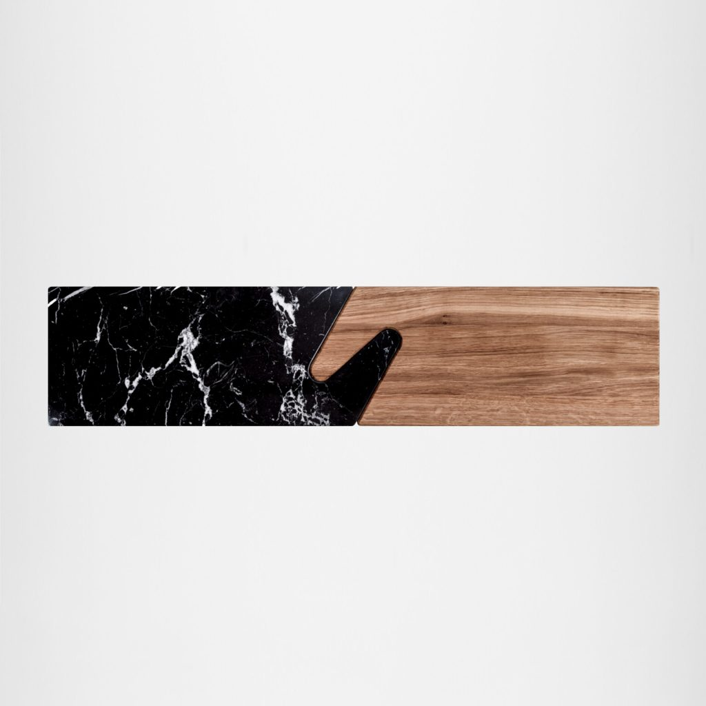 THE CONNECT Serving Boards – Black Marble & Oak