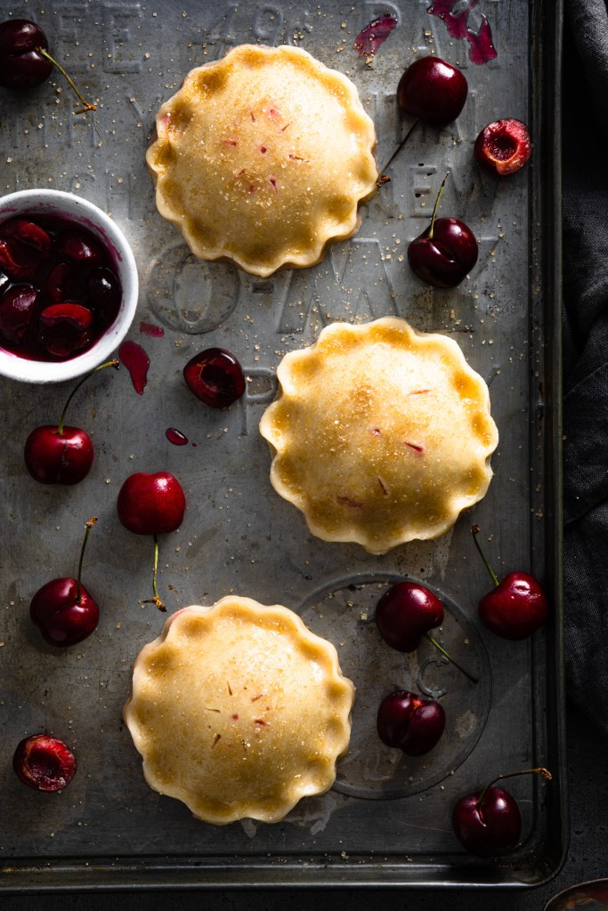 cherry hand pies with sugar