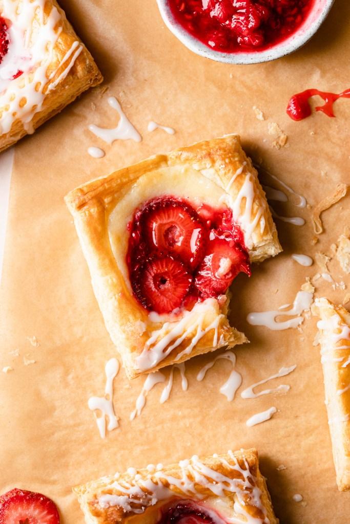 cheese danish recipe with strawberries