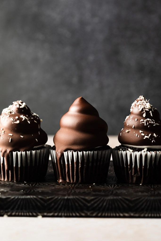 coconut caramel high hat cupcakes