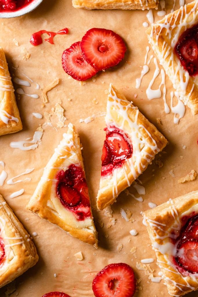 danish pastry split in half