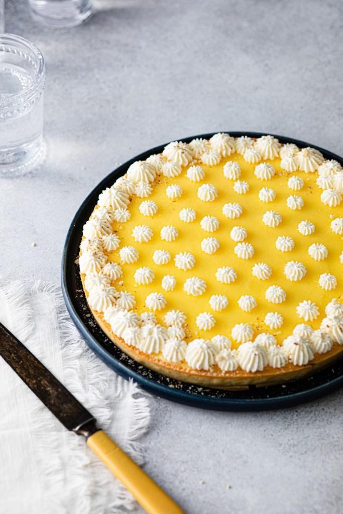 lemon curd tart with lemon mascarpone