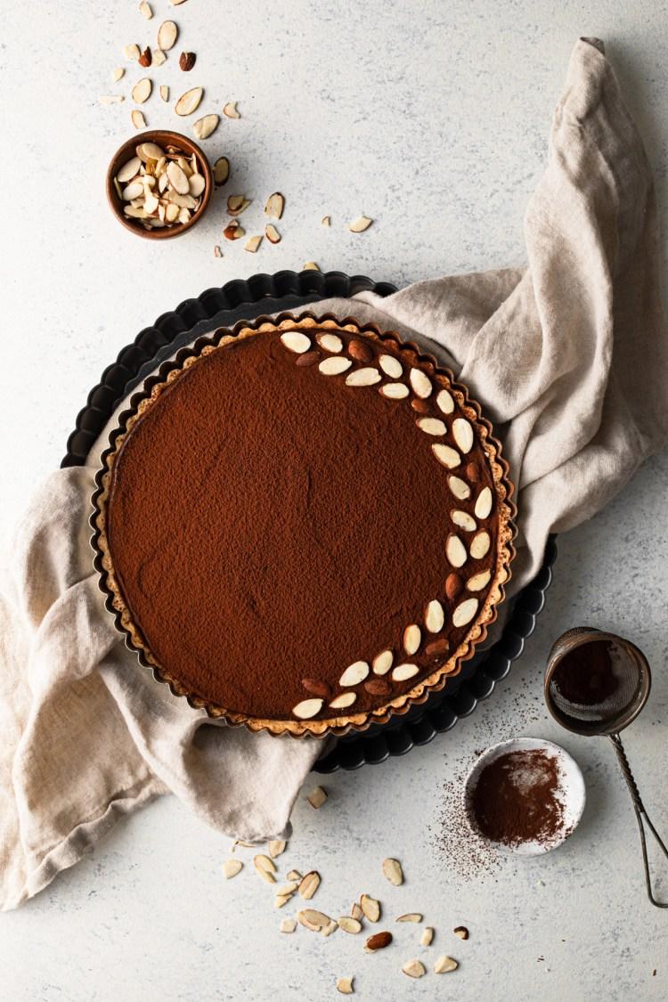 chocolate caramel mousse tart