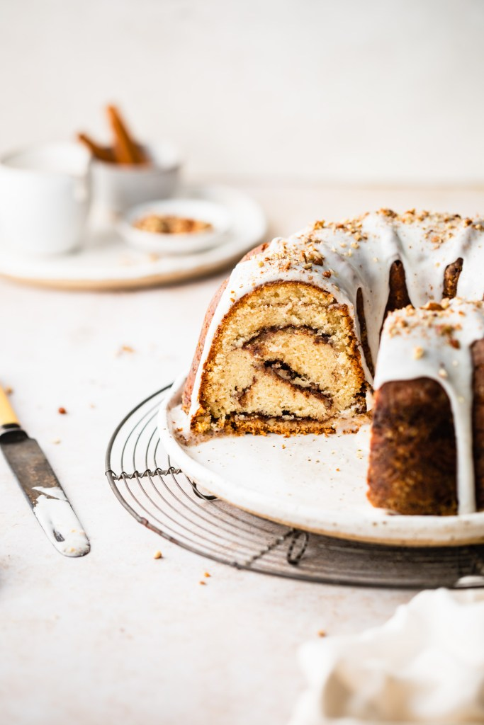 inside view of cinnamon swirl bundt cake