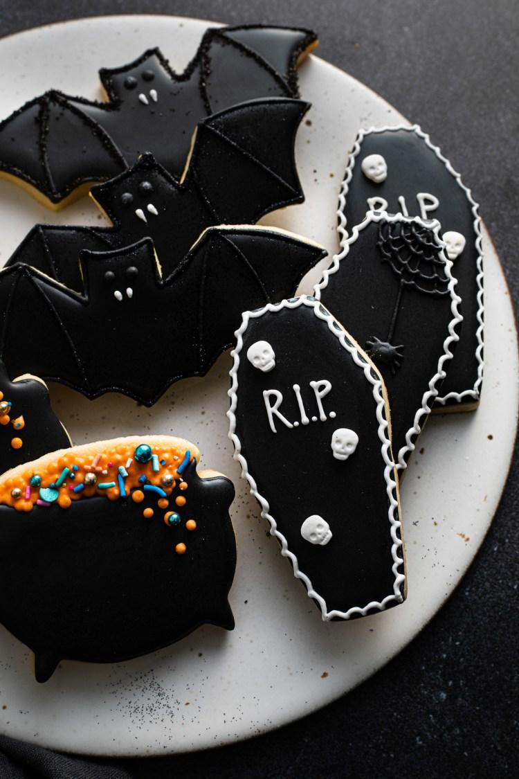 halloween royal icing cookies