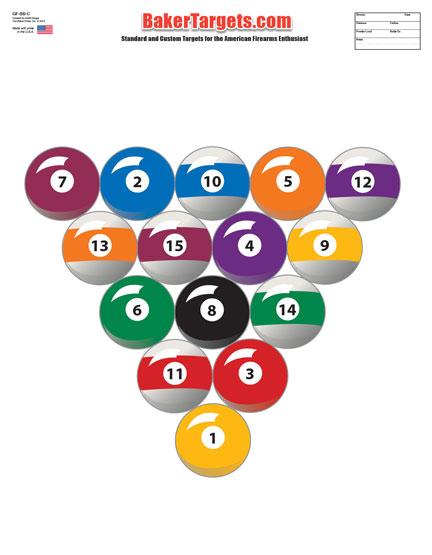 billiard ball color target
