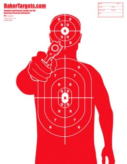 man with gun target-red