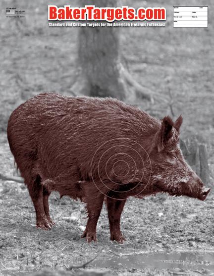 wild boar-black/red