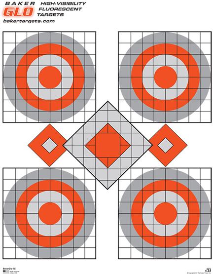 bakerglo seven shot target
