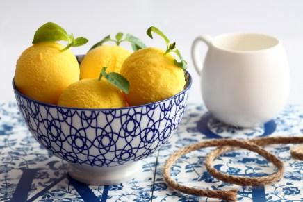 כדורי לימון קפואים