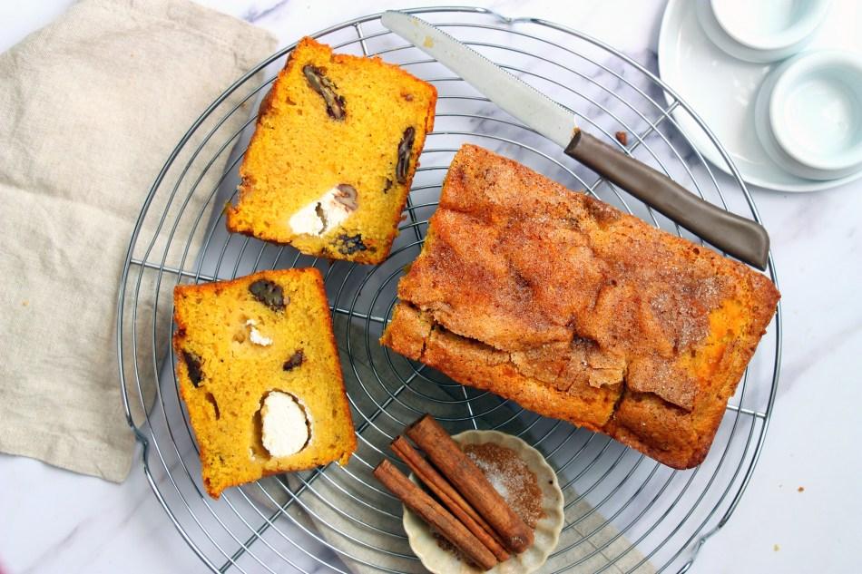 עוגת דלעת, תבלינים וגבינת שמנת