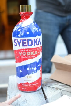 "We had to get the ""party"" version of Svedka of course!"