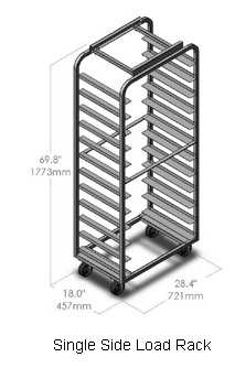 LBC Single Side Load Roll-In Oven Rack LRR-1-26-20