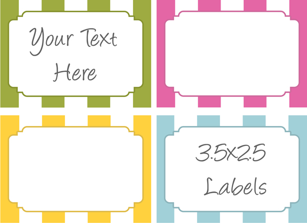 free printable labels for