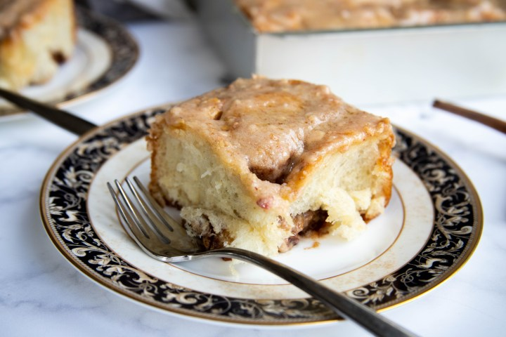 Pecan Cinnamon Rolls with Apple Cinnamon Frosting