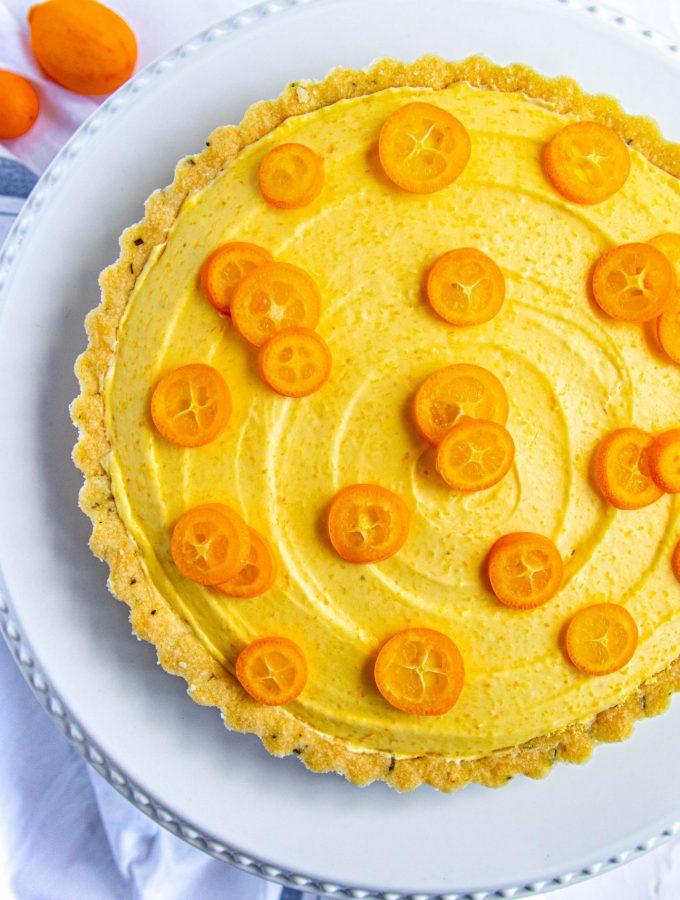 Kumquat Rosemary Tart