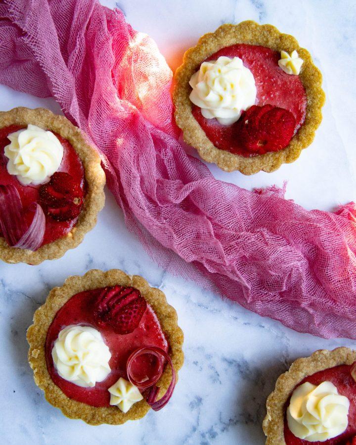 Strawberry Rhubarb Tarts