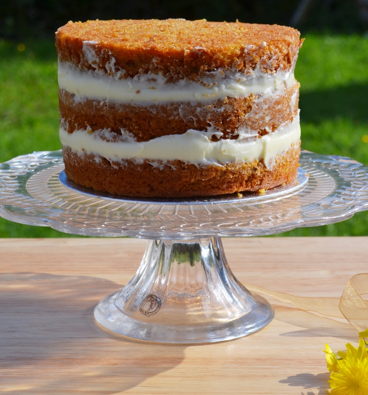 Naked Carrot Cake with Cream Cheese Frosting