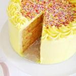 Vanilla Confetti Cake with Whipped Vanilla Buttercream