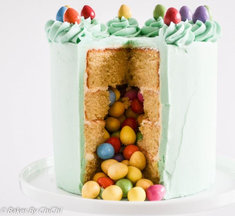 Easter Egg Pinata Vanilla Cake