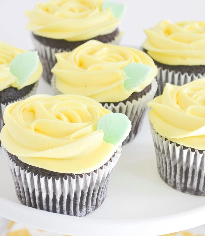 Buttercream Rose Cupcake