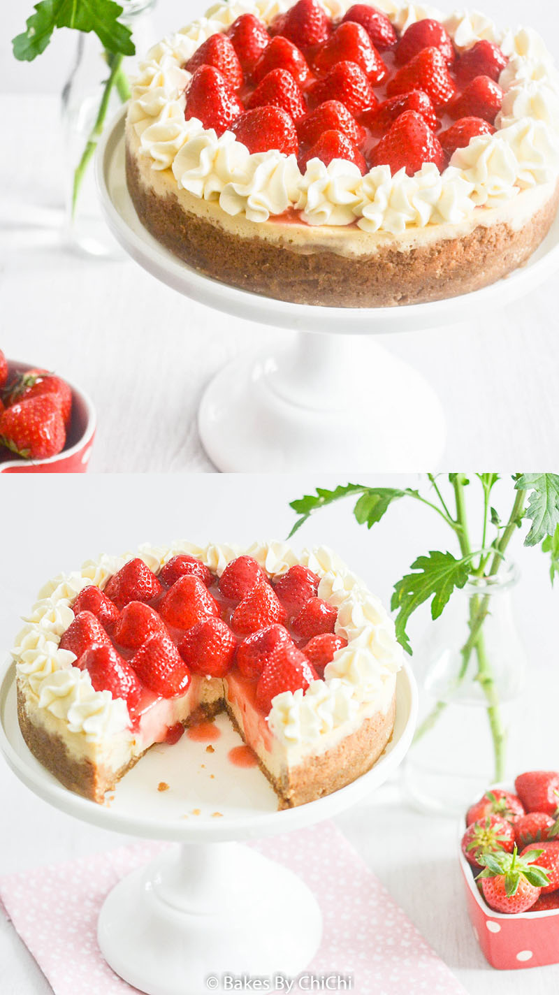 Strawberry Compote topped Cheesecake