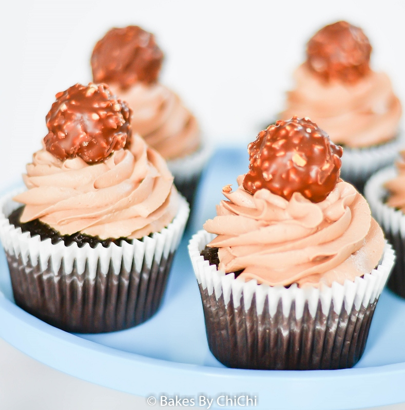 Nutella Marshmallow Frosted Chocolate Cupcakes