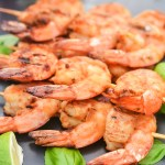 Grilled Pesto Prawn Skewers