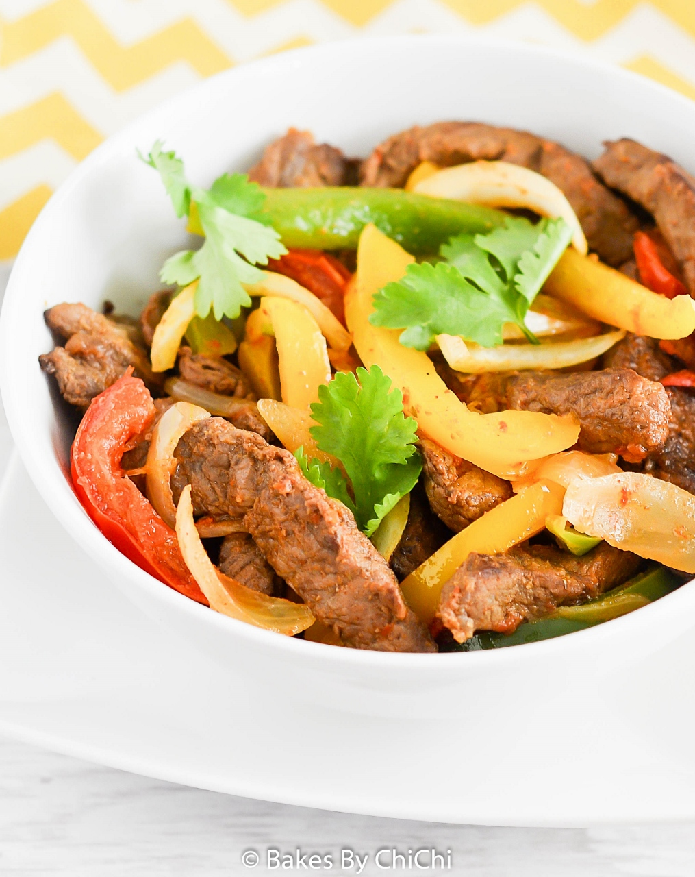 Stir - Fried Steak with Peppers