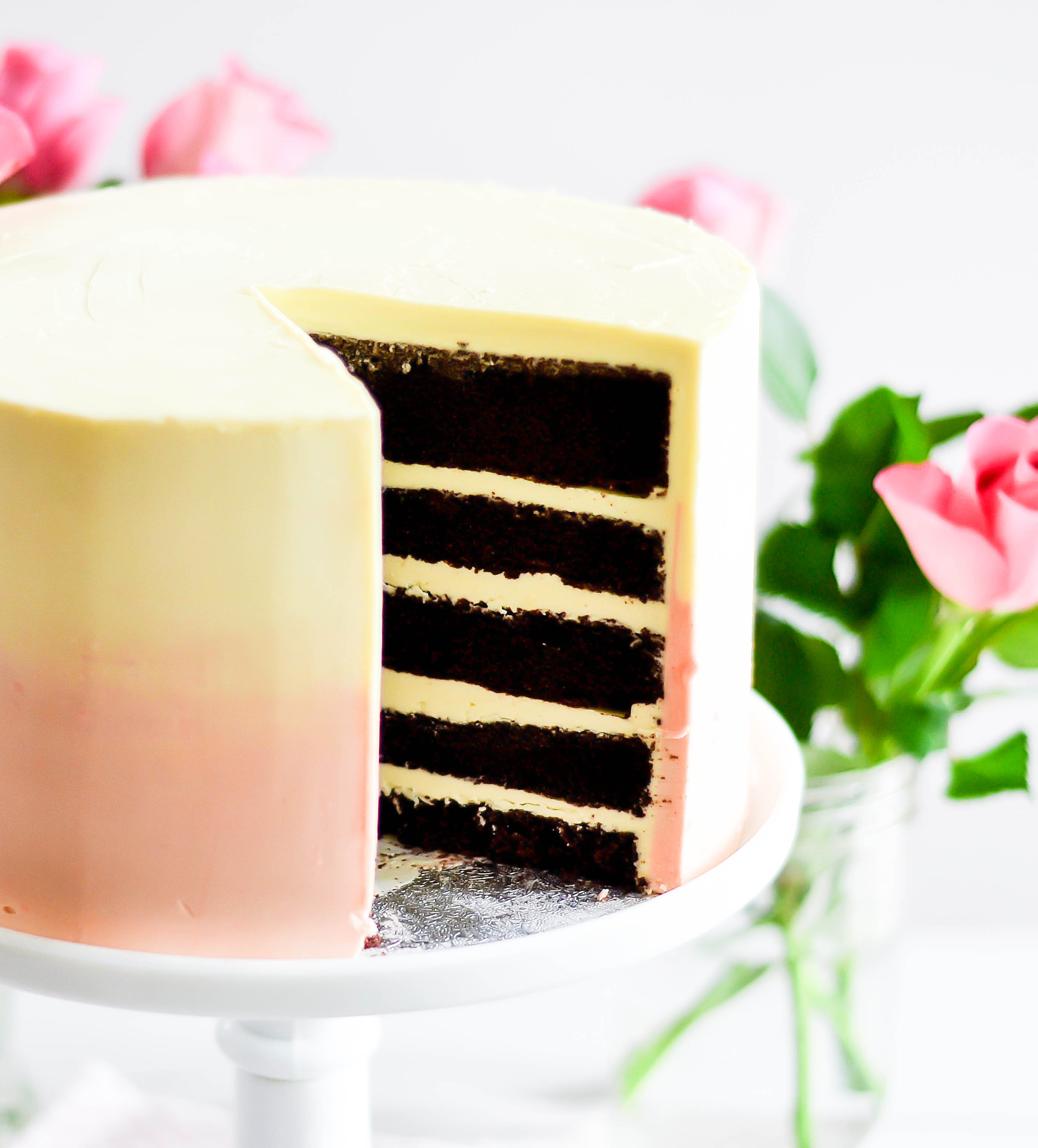 Chocolate Cake & Swiss Meringue Buttercream