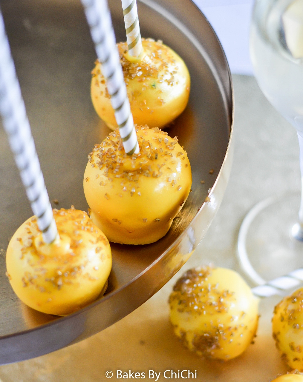 Dazzling New Year's Cake Pops
