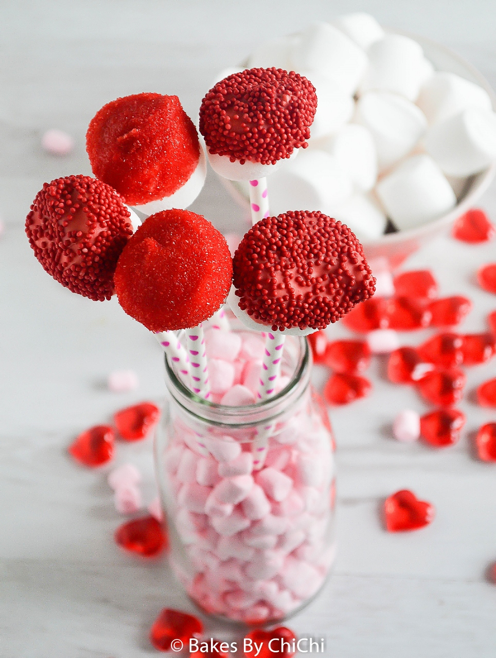 Valentine Marshmallow Pops Bakes By Chichi