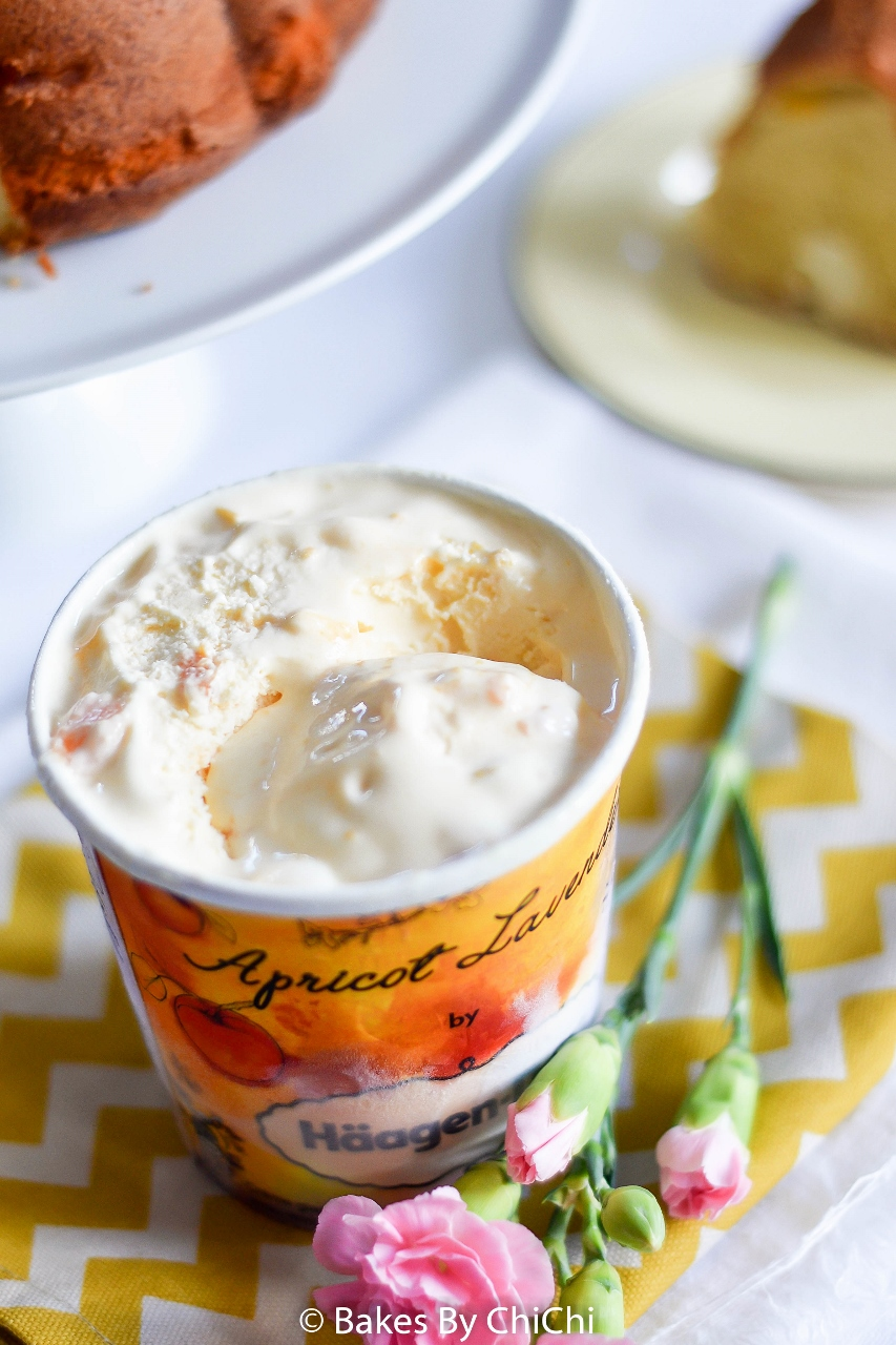 Apricot Lavender Ice Cream