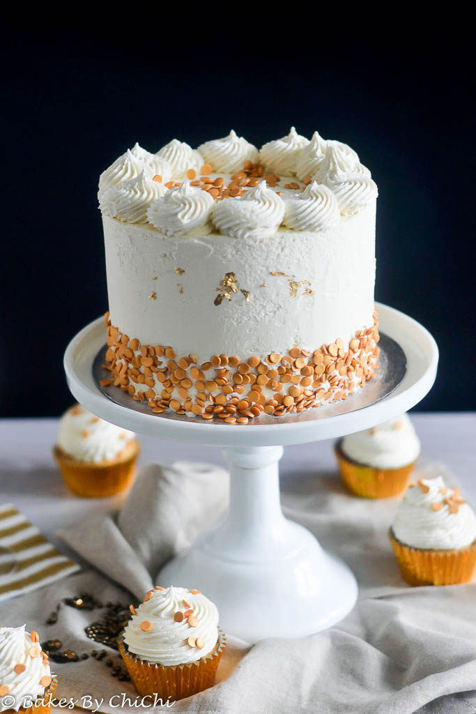 Champagne Cake And White Chocolate Buttercream Bakes By