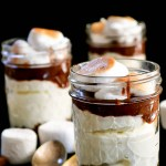 No Bake S'mores Cheesecake Parfait