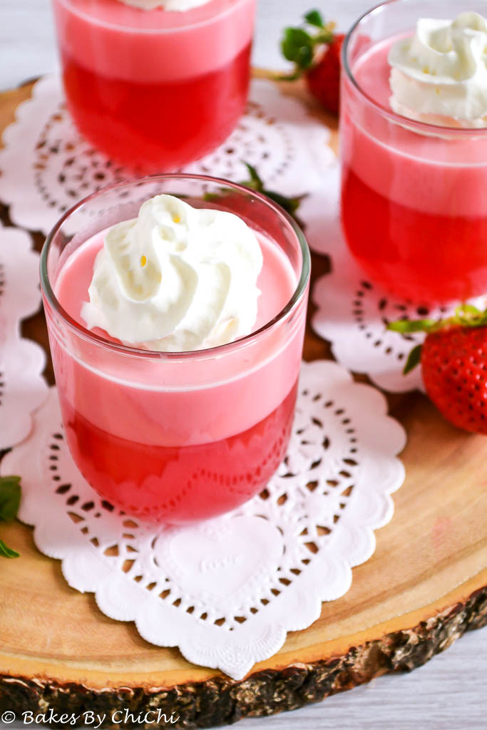 Strawberry Jelly Parfait