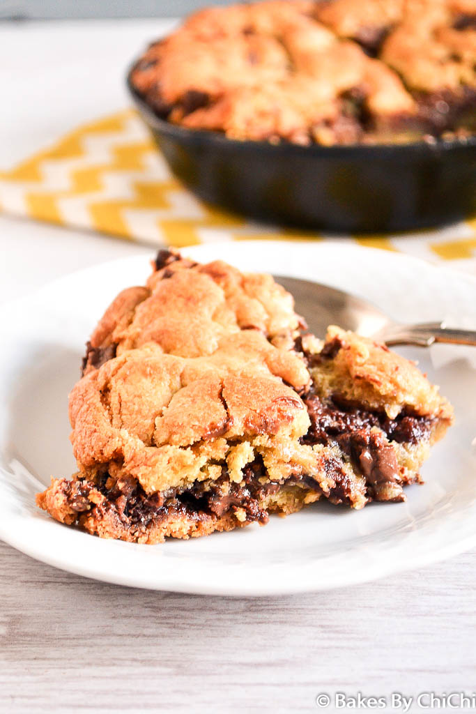 Nutella Chocolate Chunk Skillet Cookie