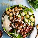 Chicken Bacon Avocado Caesar Salad