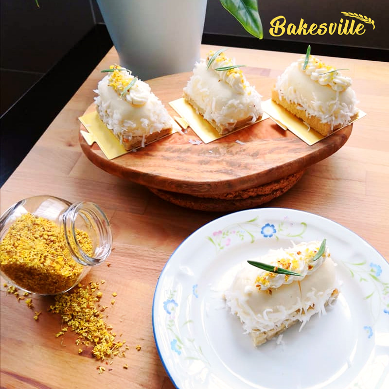 Osmanthus and Coconut cake