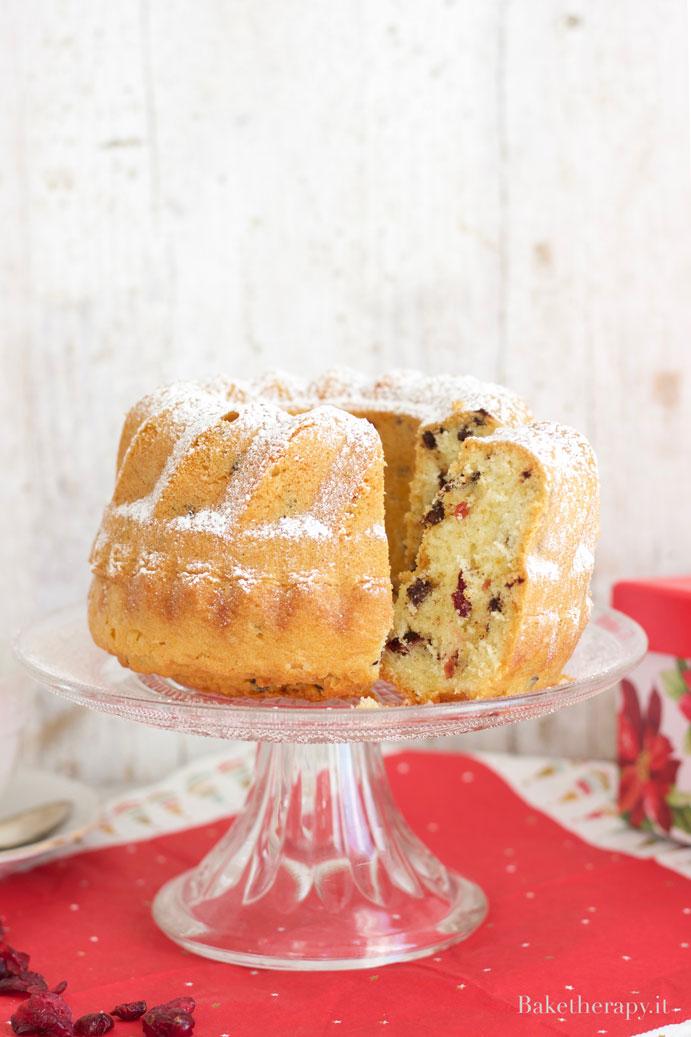 Ciambella senza burro con cioccolato e cranberry
