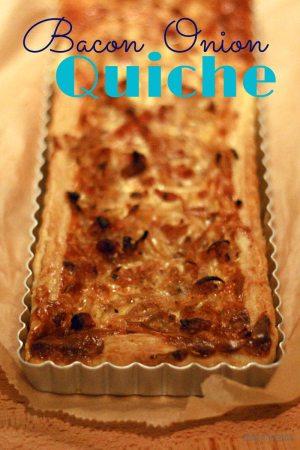 Onion Bacon Quiche